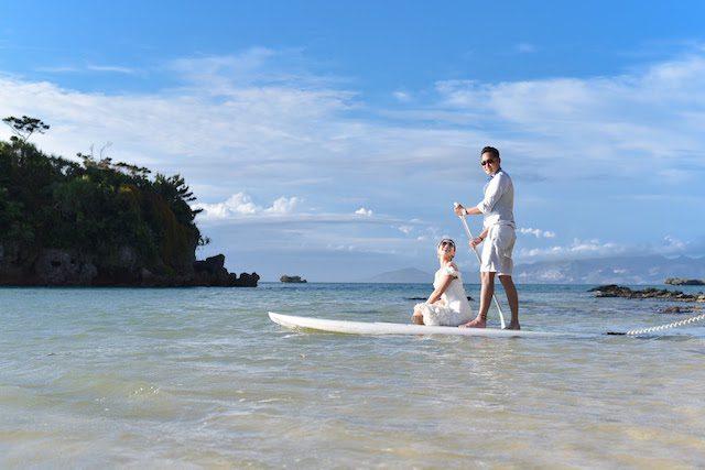 《7月》沖縄と言えば海☆ドレスでSUPウェディング♡