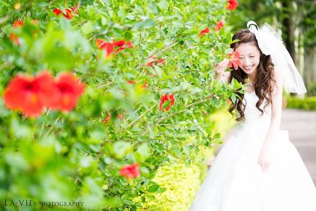 《3月》真っ白のドレスが映える♡お花祭りフォトウェディング