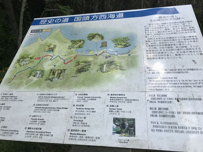 国頭方西海道:説明看板