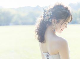 沖縄の結婚式に映える*今ドキ花嫁ヘアメイク