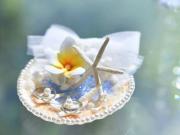 【沖縄リゾートウェディング】海や貝殻をモチーフにした人気のリングピロー