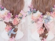 ドライフラワー*プリザーブドフラワーのヘッドドレスがかわいい!!