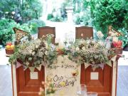 メインテーブル装飾どうする?リゾ婚・沖縄ウェディングなら爽やかなイメージにしたい♪