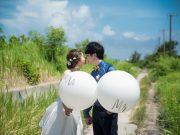 山のない沖縄の広い空と!フォトウェディングを♡DOR WEDDING
