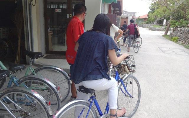 竹富島:レンタルサイクル(自転車)で島内1周