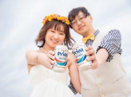 沖縄の空!オリオンビールをアイテムに♡DORのフォトウェディング