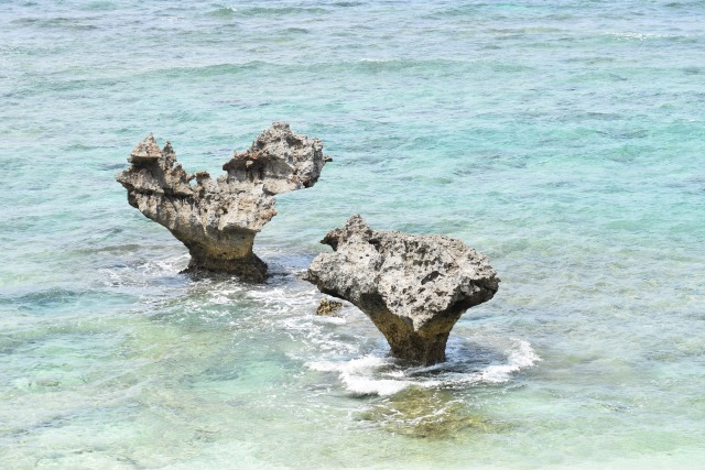 ハートロック:古宇利島観光