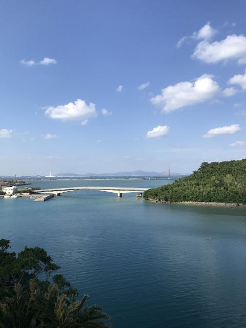 屋慶名海峡展望台:頂上からの景色1